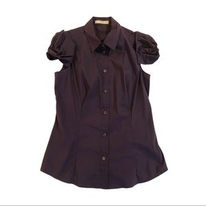 Prada purple button blouse, bow sleeves size 42